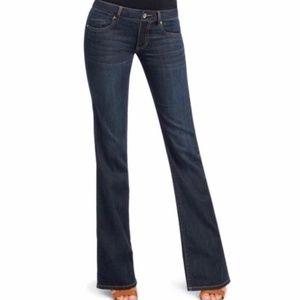 CAbi Zoe Flare Jeans Style 749L dark wash size 12